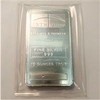 10oz. NTR Metals Fine Silver Bar (No Tax)