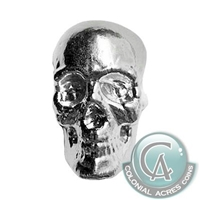 Skull 3oz. Monarch Hand Poured .999 Silver (No Tax)