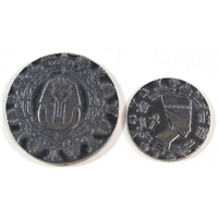 Monarch Egyptian 1/4oz. King Tut Queen Nefertiti & 1/10oz .999 Fine Silver (No Tax) 2pcs