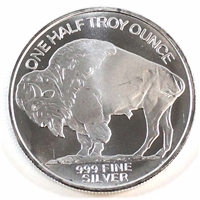 1/2oz Silver Round - Buffalo/Indian .999 (TAX Exempt)