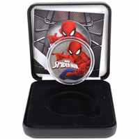 2017 Tuvalu $1 Silver Spiderman Colourized with Ruthenium Plating in Display (No Tax)
