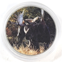 2014 Canada $5 Silver Maple Leaf with Full Colour Moose (No Tax)