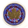 2017 Canada $5 Silver Maple Leaf Gold Plated with Blue Kaleidoscope Background (No Tax)