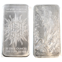 "Silver Shield ""Jesus Clears the Temple"" 10oz. .999 Fine Silver Bar (No Tax)"