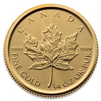 Any Date 1/4oz $10 Canada Gold Maple Leaf (TAX Exempt)