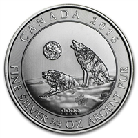 2016 Canada 3/4oz. .999 Silver Howling Wolves BU (Tax Exempt)