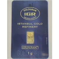 Turkey Istanbul Refinery 1g .999 Gold Bar in Original Package (No Tax)
