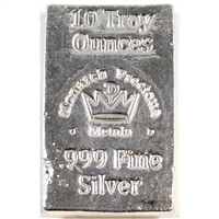 Monarch Hand Poured .999 Silver 10oz Bar (No Tax)