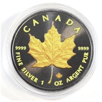 2016 Canada $5 Yellow Silver Maple Leaf 1oz. .999 Silver (No Tax)