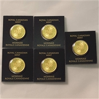 Canada 5 x 1 gram Gold Maple Leafs (MapleGram) - No Tax. 5pcs