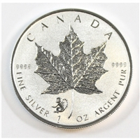 2016 Canada Monkey Privy $5 Silver Maple Leaf .9999 Fine. No Tax