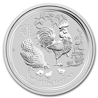 2017 Australia Silver 1oz. Lunar Year of the Rooster BU (No Tax)