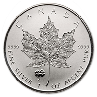 2016 Canada $5 Four-Leaf Clover Privy 1oz. Silver Maple (No Tax)