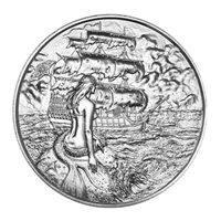 The Privateer Collection - The Siren 2oz. UHR Silver #2 (No Tax) Light Toning