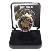 Canada $5 Skull Island Gold Plated & Coloured SML in Display (No Tax)