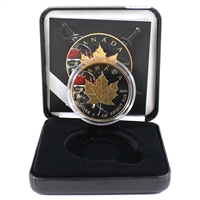 Canada $5 Silver Maple Leaf w/ Pirate Skull & Gold Plated (No Tax) impaired