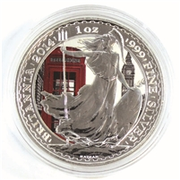 2014 GB 2-Pounds Britannia with London Landmarks Colouring (No Tax) impaired