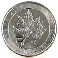 2015 Canada $8 Superleaf 1.5oz. .999 Fine Silver Coin, lightly toned (TAX Exempt)