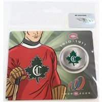 2009 Canada Montreal Canadiens 50-cent Special Issue (Green/Red)