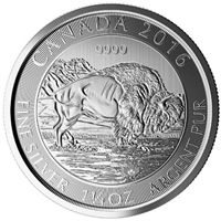 2016 Canada 1.25oz Bison .999 Silver Coin (TAX Exempt)