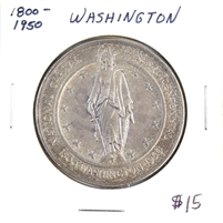 1800-1950 Washington 150th Anniversary of Permanent National Capital Medallion