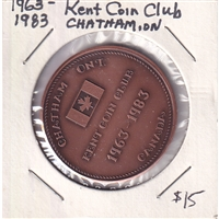 1963-1983 Chatham Kent Coin Club 20th Anniversary Medallion