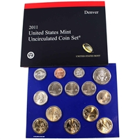 2011 USA Uncirculated Coin Set P/D in Brown Box