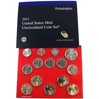 2012 USA Uncirculated Coin Set P/D in Brown Box