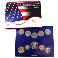 2018 USA Uncirculated Coin Set P/D in Brown Box