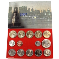 2007 USA Uncirculated Coin Set P/D in Brown Box