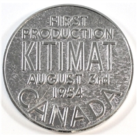 1954 Kitimat Canada First Production Medallion - Aluminum Company of Canada Ltd