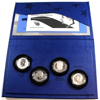 2014 USA Kennedy Silver Half Dollar 4-Coin Collection, One Coin Per Mint