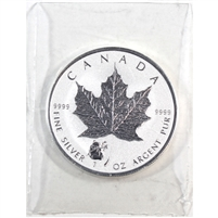 2016 Canada $5 1oz .999 Silver Maple Leaf with Panda Privy (No Tax) Sealed
