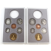 1994 & 1995 Commemorative Canada 6-coin Sets removed from RCM Proof Double Dollar Sets