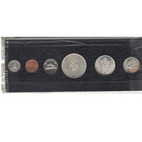 1964 Year Set in Black Holder (coins are toned or impaired)