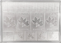 2019 Royal Canadian Mint Maple Leaf Flex 2oz. Silver Fractional Multibar (No Tax)