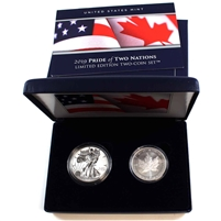 2019 USA & Canada Pride of Two Nations - Lmt. Edition 2-Coin Set (No Tax) US Mint edition