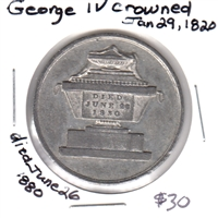 Commemorative George IV 1820-1880 Medal