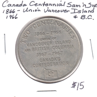 1866-1966 Two Centenaries Sam 'N Sue Medallion