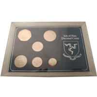 1975 Isle of Man Sterling Silver Decimal Set (Toned).