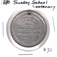 1880 Robert Raikes Sunday School Centenary Medallion