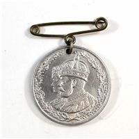 1910-1935 King George V & Queen Mary Silver Jubilee Medal Pendant