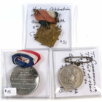 Group Lot of 1939 & 1946 Royal Family Themed Medals (Some with Ribbons). 3Pcs.