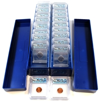 2005 USA Complete 22-Coin P/D Satin ICG Certified SP69 Sets in blue cases