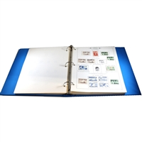 Canada Darnell Postage Stamp Album in blue binder. 100s of Stamps.