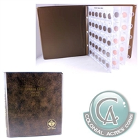 1920 to 2012 Canada Small Cent Collection with deluxe folder