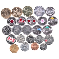 Starter Coin Wallet with 24 Coins 1943-2015 (48pkt + coins)