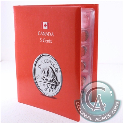 1922-1960 Canada 5-cents collection in Kaskade Collector Album