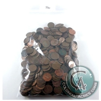 Lot of USA Copper Cents 5 Pounds - Shipping to Canada Only