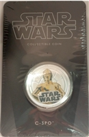 2011 Niue $1 Star Wars - C-3PO Silver Plated Coin in Card